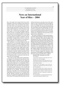 News on International Year of Rice 2004 by Food and Agriculture Organization of the United Na...
