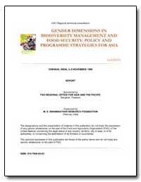 Gender Dimensions in Biodiversity Manage... by Food and Agriculture Organization of the United Na...