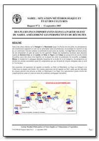 Situation Meteorologique et Etat des Cul... by Food and Agriculture Organization of the United Na...