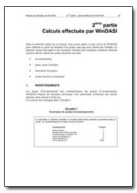 Calculs Effectues par Windasi by Food and Agriculture Organization of the United Na...