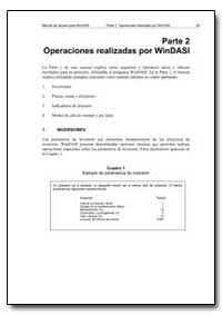Parte 2 Operaciones Realizadas Por Winda... by Food and Agriculture Organization of the United Na...