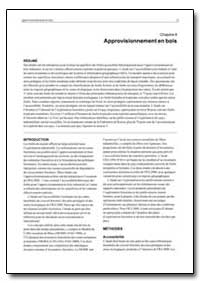 Approvisionnement en Bois by Food and Agriculture Organization of the United Na...