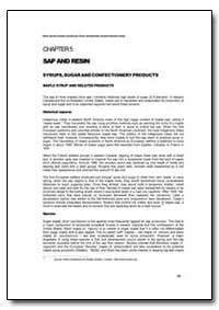Sap and Resin by Food and Agriculture Organization of the United Na...