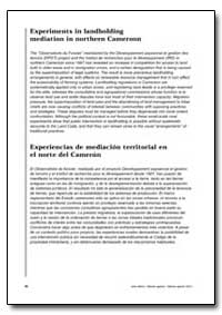 Experiments in Landholding Mediation in ... by Food and Agriculture Organization of the United Na...