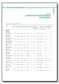Annexe 2 Composition Approximative des A... by Food and Agriculture Organization of the United Na...