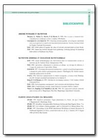 Bibliographie by Food and Agriculture Organization of the United Na...