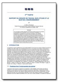 Rapport du Groupe de Travail sur L'Etude... by Food and Agriculture Organization of the United Na...