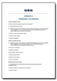 Programa Y Calendario by Food and Agriculture Organization of the United Na...