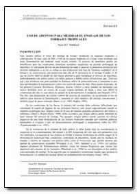 Uso de Aditivos para Mejorar el Ensilaje... by Food and Agriculture Organization of the United Na...