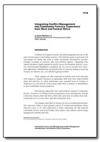 Integrating Conflict Management into Com... by Food and Agriculture Organization of the United Na...