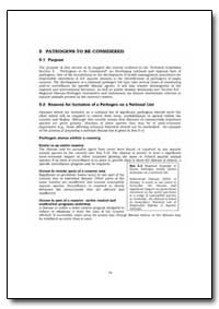 Reasons for Inclusion of a Pathogen on a... by Food and Agriculture Organization of the United Na...