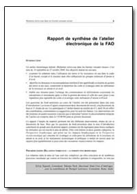 Rapport de Synthese de Latelier Electron... by Food and Agriculture Organization of the United Na...