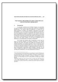 Trato Especial Y Diferenciado de Los Pai... by Food and Agriculture Organization of the United Na...