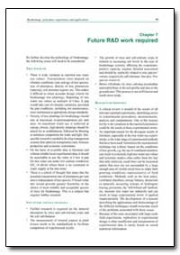 Future R&D Work Required by Food and Agriculture Organization of the United Na...