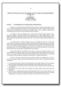 Review of the Social and Economic Status... by Food and Agriculture Organization of the United Na...