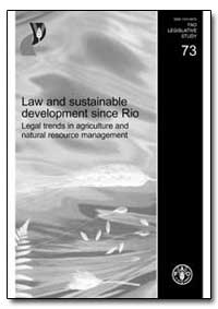 Law and Sustainable Development Since Ri... by Food and Agriculture Organization of the United Na...