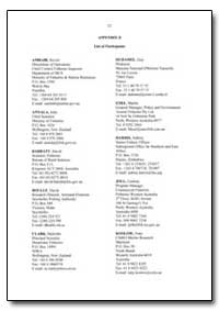 List of Participants by Food and Agriculture Organization of the United Na...