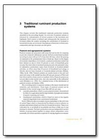 Traditional Ruminant Production Systems by Food and Agriculture Organization of the United Na...