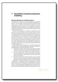 Quantitative Livestock Production Modell... by Food and Agriculture Organization of the United Na...