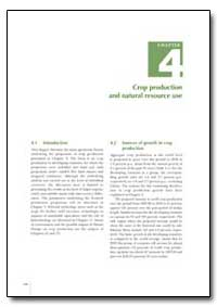 Crop Production and Natural Resource Use by Food and Agriculture Organization of the United Na...