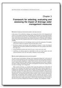 Framework for Selecting, Evaluating and ... by Food and Agriculture Organization of the United Na...