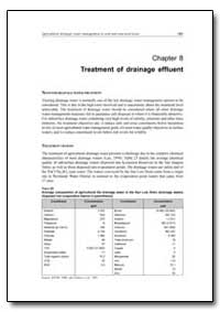 Treatment of Drainage Effluent by Food and Agriculture Organization of the United Na...