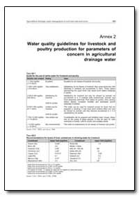 Water Quality Guidelines for Livestock a... by Food and Agriculture Organization of the United Na...
