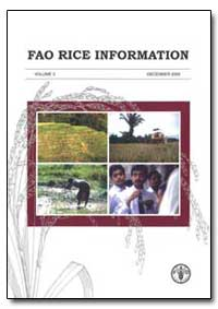 Fao Rice Information Volume 3 by Food and Agriculture Organization of the United Na...