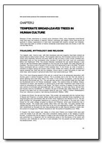 Temperate Broad-Leaved Trees in Human Cu... by Food and Agriculture Organization of the United Na...