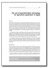 The Use of Geoinformation Technology for... by Food and Agriculture Organization of the United Na...