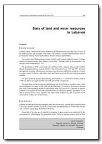 State of Land and Water Resources in Leb... by Food and Agriculture Organization of the United Na...