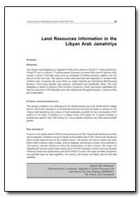 Land Resources Information in the Libyan... by Food and Agriculture Organization of the United Na...