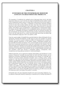 Extension of the Intermediate Moisture C... by Food and Agriculture Organization of the United Na...