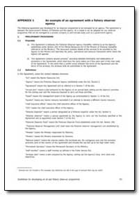 An Example of an Agreement with a Fisher... by Food and Agriculture Organization of the United Na...
