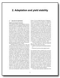 Adaptation and Yield Stability by Food and Agriculture Organization of the United Na...