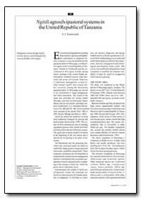 Ngitili Agrosilvipastoral Systems in the... by Kamwenda, G. J.