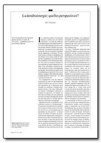 La Dendroenergie : Quelles Perspectives? by Trossero, M. A.
