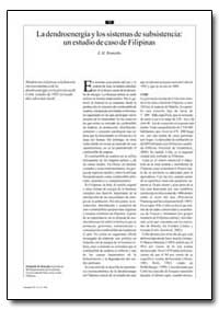 La Dendroenergia Y Los Sistemas de Subsi... by Remedio, E. M.