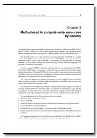 Method Used to Compute Water Resources b... by Food and Agriculture Organization of the United Na...
