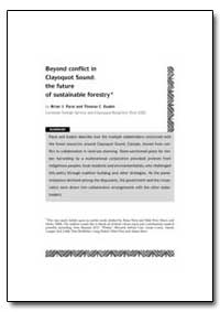 Beyond Conflict in Clayoquot Sound : The... by Parai, Brian J.