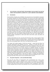 Sustainable Exploitation and Sensible Ma... by Food and Agriculture Organization of the United Na...