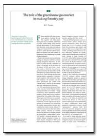 The Role of the Greenhouse Gas Market in... by Trexler, M. C.