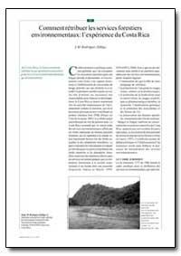 Comment Retribuer les Services Forestier... by Zuniga, J. M. Rodriguez