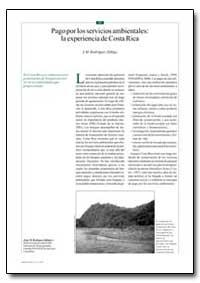 Pago Por Los Servicios Ambientales: La E... by Zuniga, J. M. Rodriguez