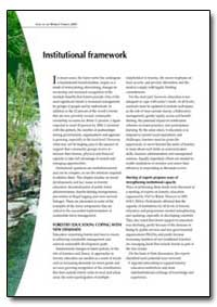 Institutional Framework by Food and Agriculture Organization of the United Na...