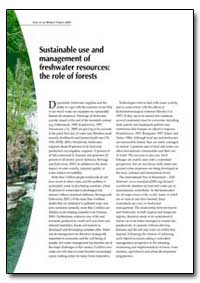 Sustainable Use and Management of Freshw... by Food and Agriculture Organization of the United Na...