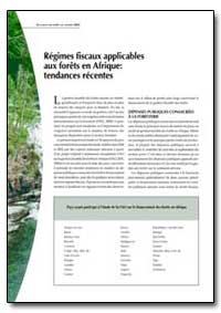 Regimes Fiscaux Applicables Aux Forets e... by Food and Agriculture Organization of the United Na...