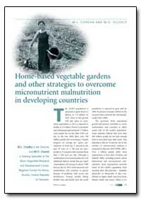 Home-Based Vegetable Gardens and Other S... by Chadha, M. L.