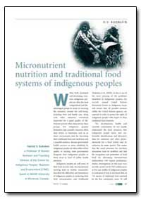 Micronutrient Nutrition and Traditional ... by Kuhnlein, H. V.
