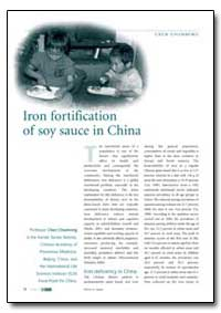 Iron Fortification of Soy Sauce in China by Chunming, Chen